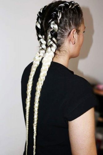Ombre Kanekalon as a Party Hairstyle picture3