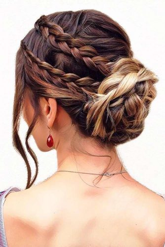 Buns With Double Dutch SIde Braids #braids #updo