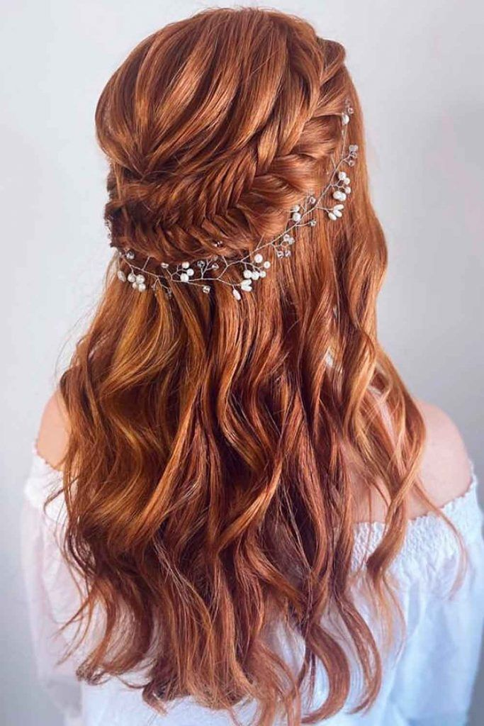 Accessorized Long Formal Hairstyles With Beach Waves