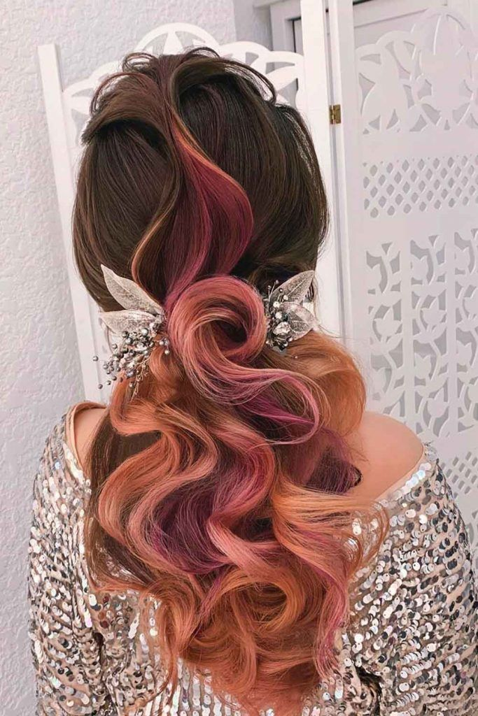 Low Ponytail With Big Voluminous Curls