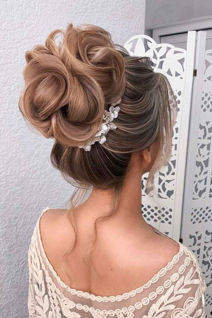 High Chignon Updo Hairstyle