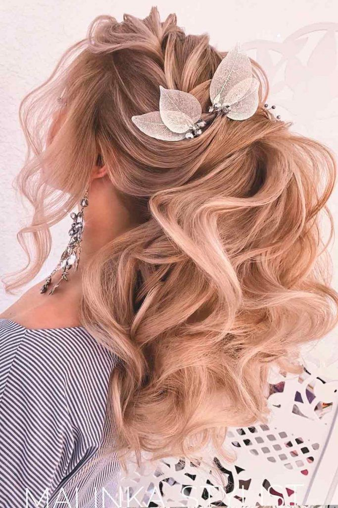 Ponytail With Big Voluminous Curls