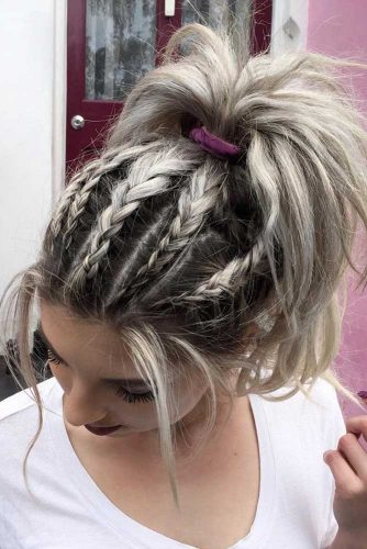 Dutch Braids and Pony Combination picture1