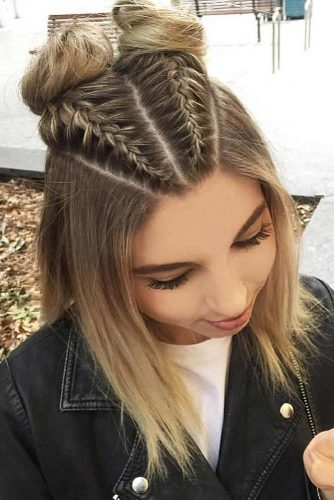 Embellish Your Top Knot with Dutch Braids picture3