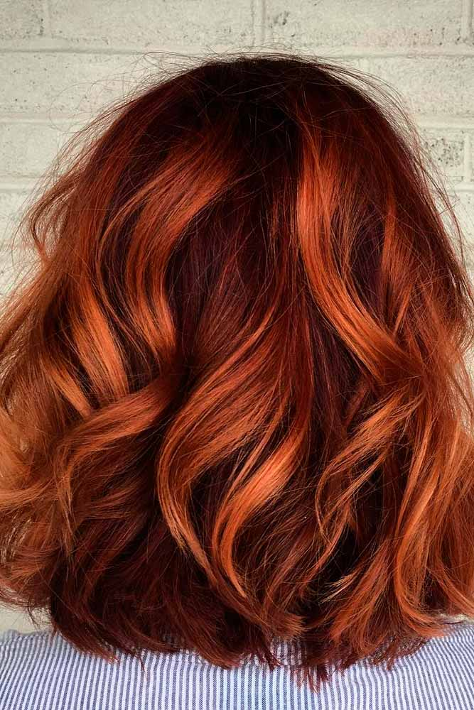 Copper Brown Ombre Hair picture 1