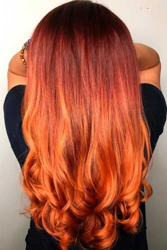 Copper Brown Ombre Hair picture2