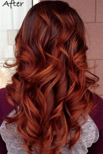 Copper Brown Ombre Hair picture 3
