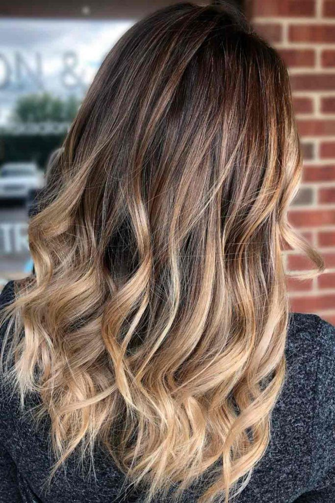 Cool Brown Blonde Wavy Hair