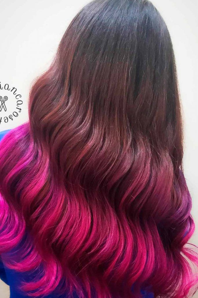 Bright Pink Ombre Hair