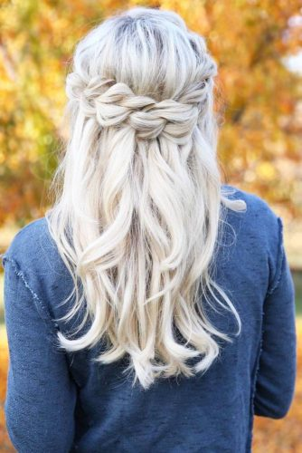 Blonde Crown Braids You Can Do in 10 Minutes picture 2