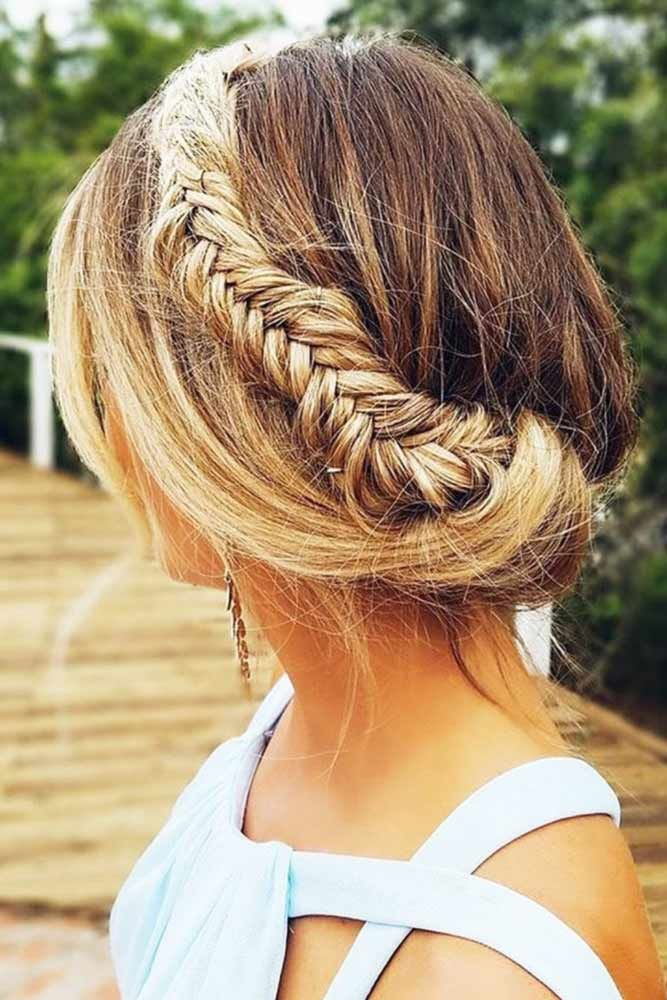 Headband Braid Updo #crownbraids #braids