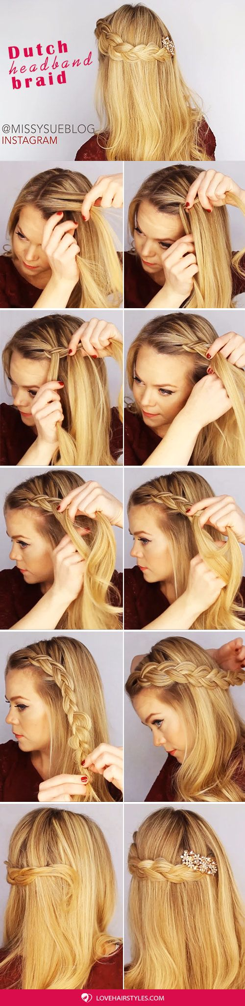 A Dutch Crown Braid Step By Step #crownbraids #braids