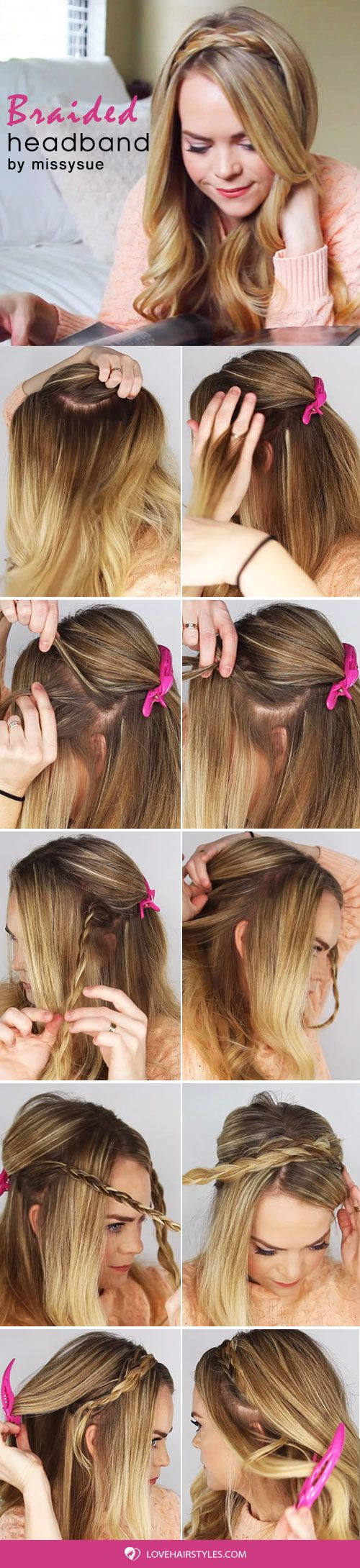 How To Create A Headband Braid #crownbraids #braids