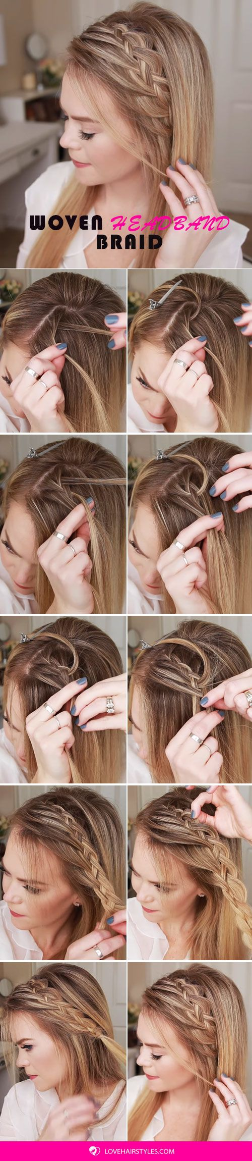 Woven Crown Braid Hair Tutorial #crownbraids #braids
