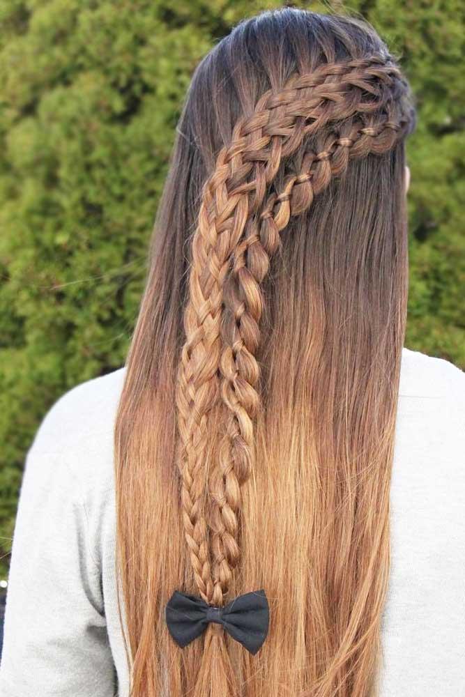 Pretty Ladder Braid Hairstyles picture 1