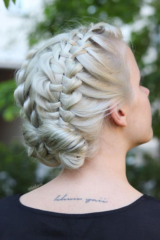 Ladder Braid Updo Hairstyle