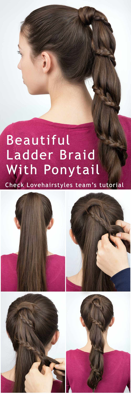 Vertical Ladder Braid With Ponytail