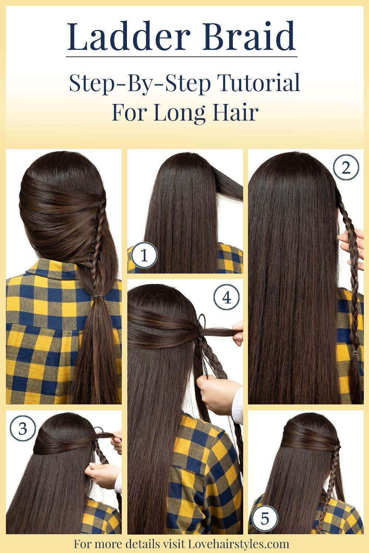 Ladder Braid Tutorial For Long Hair
