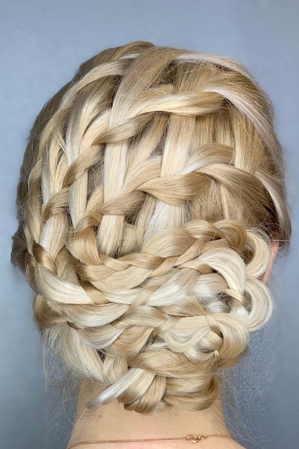 Updo Hairstyle With Ladder Braids