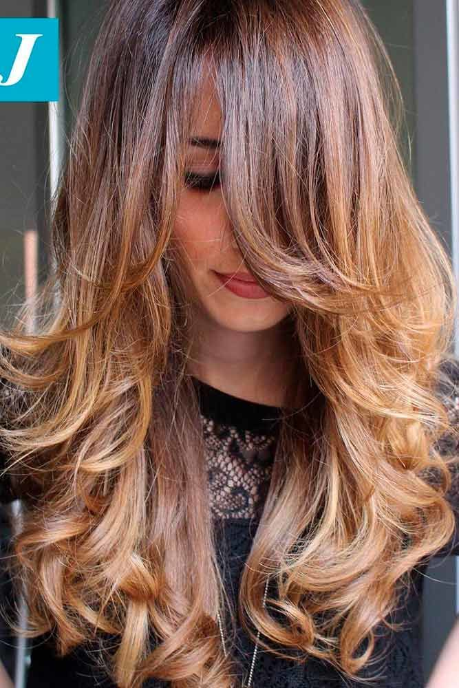 Choppy Medium Length Layered Hair Ombre #mediumhair #layeredhair