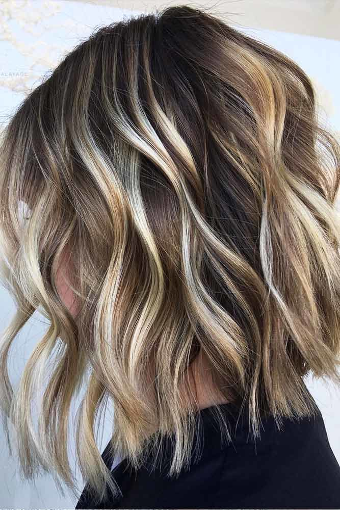 Wavy Layered Medium Hairstyles #mediumhair #layeredhair #hairstyles