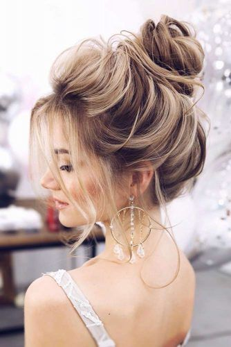 High Bun Hairstyles For Prom #promhairstyles #longhair #hairstyles #highbun