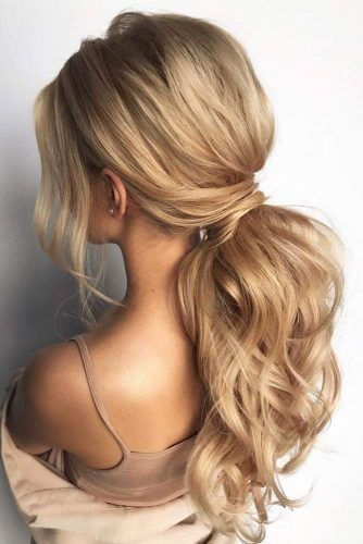 Low Ponytail Hairstyles #promhairstyles #longhair #hairstyles #ponytail