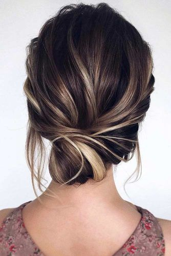 Twisted Low Updo #updo #promhair #promhairstyles