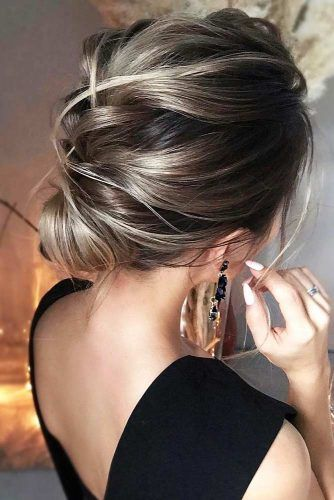 Messy Braided Wrapped Updo #updo #promhair #promhairstyles