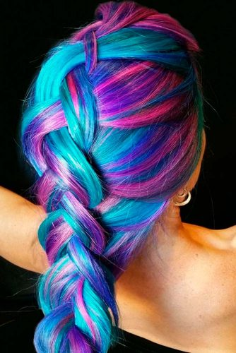 Light Blue and Light Purple Hair Color picture 1