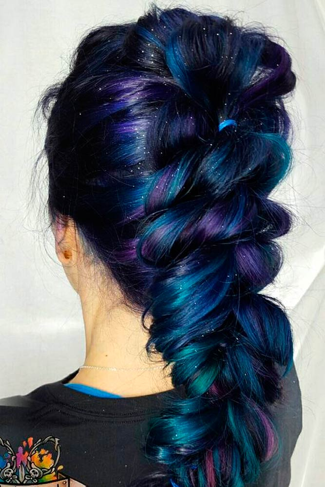 Purple and Blue Hair Hairstyles Ideas picture 1