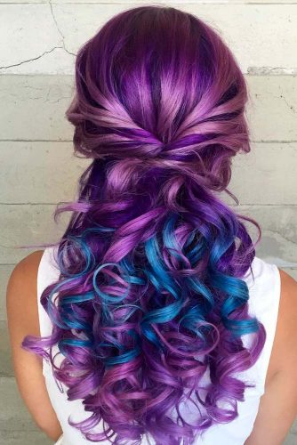 Purple and Blue Hair Hairstyles Ideas picture 2