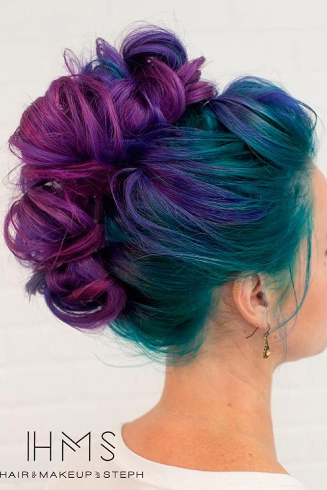 Purple and Blue Hair Hairstyles Ideas picture 3