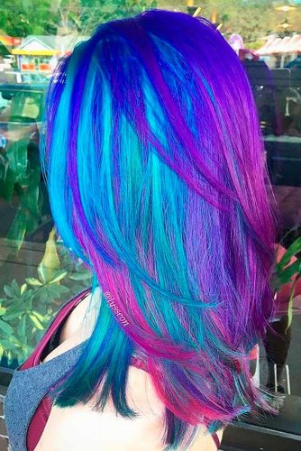 Stunning Purple and Blue Hair Ideas picture 1