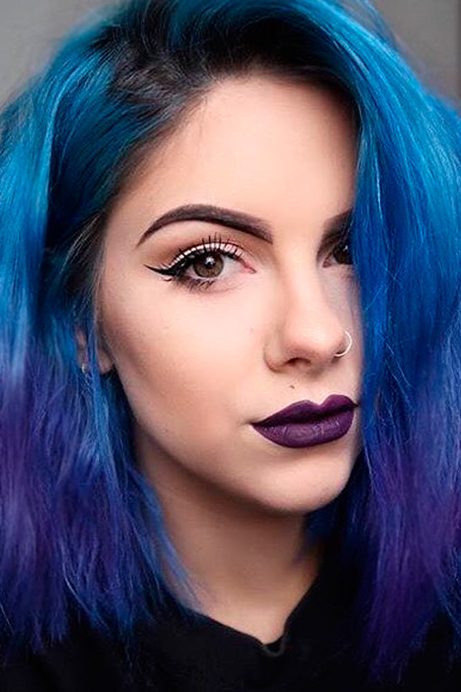 Stunning Purple and Blue Hair Ideas picture 2