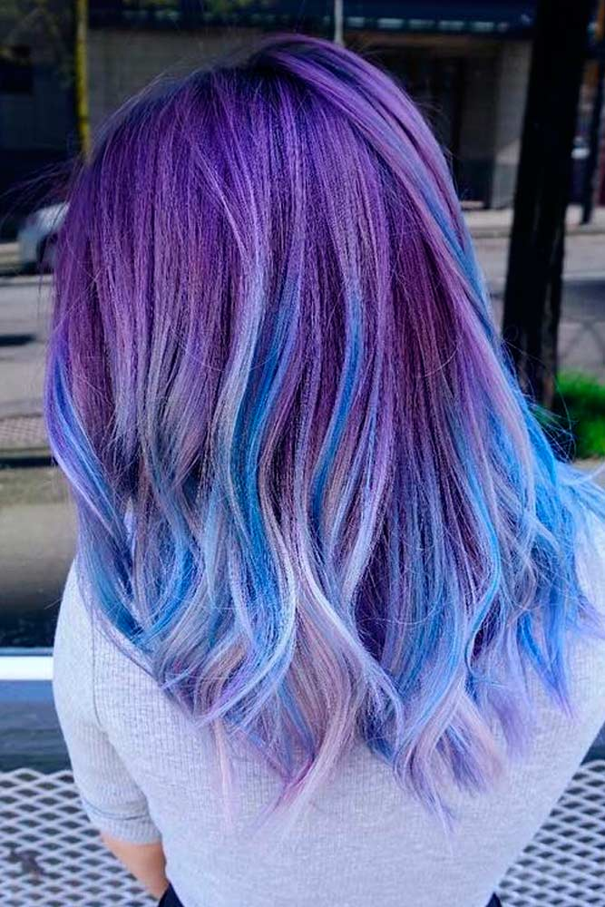 Light Blue and Light Purple Hair Color picture 2