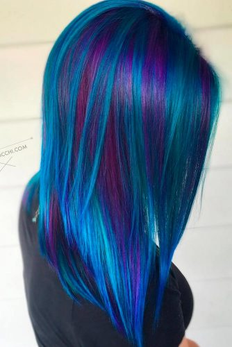 Beautiful Dark Blue and Dark Purple Hair Color picture 1