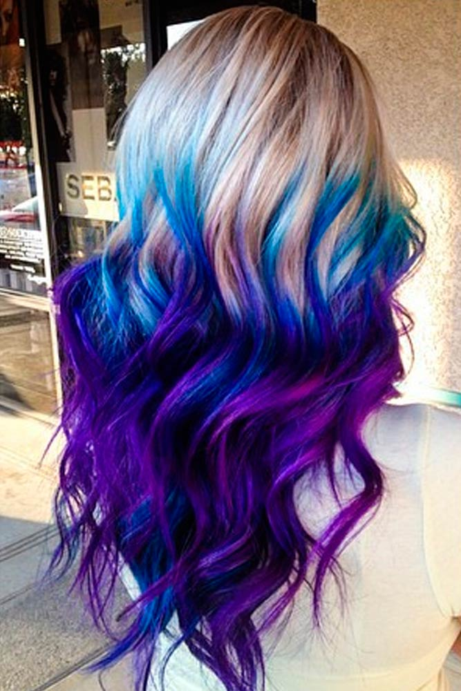 Beautiful Purple and Blue Ombre Hair picture 2