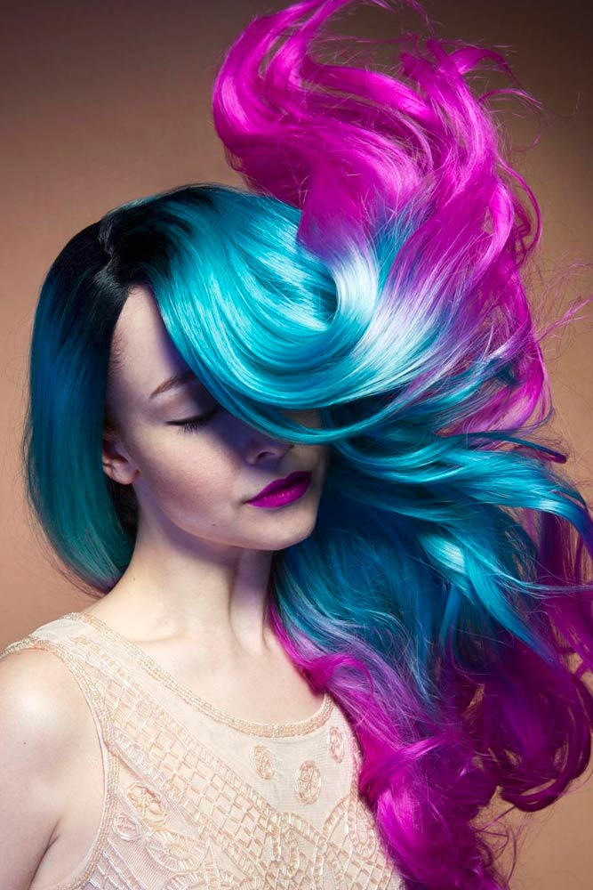 Beautiful Purple and Blue Ombre Hair picture 3