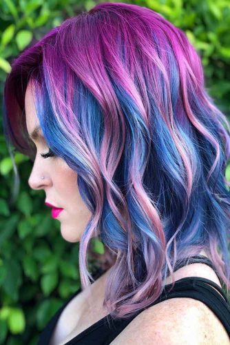 Fuchsia Purple With Blue #purplehair #bluehair
