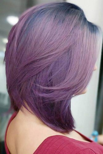 Ink Blue Roots To Purple #purplehair #bluehair