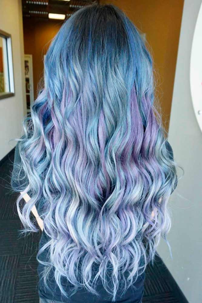Charming Purple and Blue Hair picture1