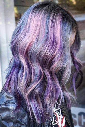 Metallic Overdose #purplehair #highlights