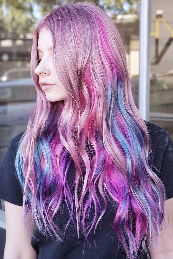 Pink Veil Unicorn #purplehair #highlights