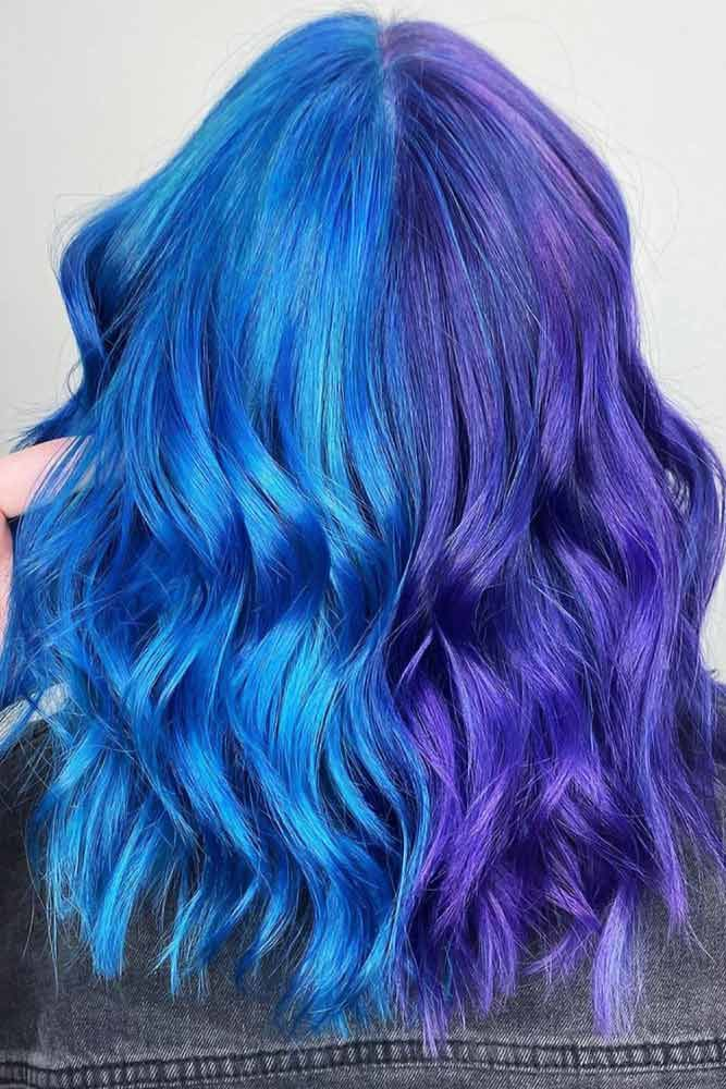 So What Happens When Your Hair Is Blue And Purple? #purplebluehair