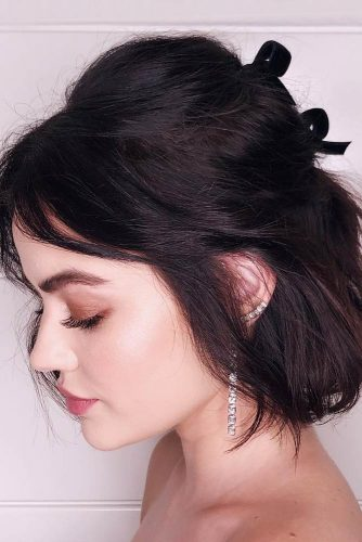 Half Up Half Down Short Bob Hairstyle
