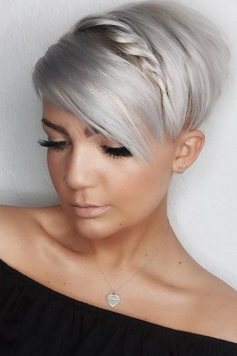 Silver Pixie-Bob With Twisted Braid