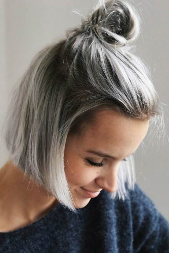 Top Knot For Short Hair Style