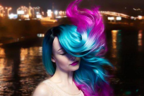 Beautiful Purple and Blue Hair Looks