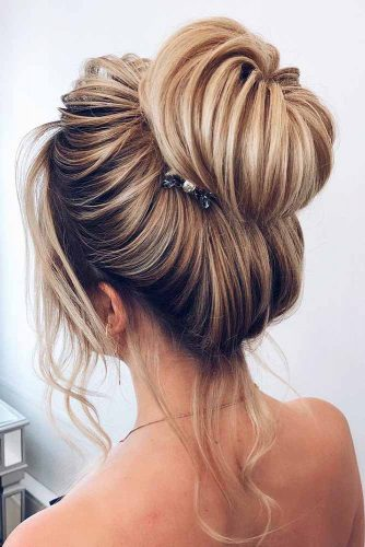 Beautiful Bun Hairstyles for Cute Brides picture1
